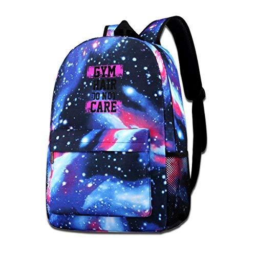 AOOEDM School Bag,Gym Hair Do Not Care School Backpack Galaxy Starry Sky Book Bag Kids Boys Girls Daypack