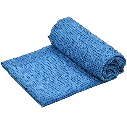 Toalla Yoga Antideslizante para Colchoneta, Toalla Yoga Hot Grande para Esterilla Yoga, Toalla de Microfibra con Bolsa de Transporte para Pilates, Bikram