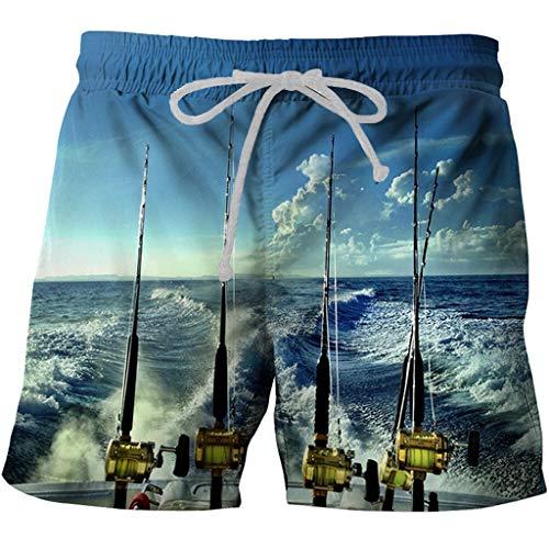 Overdose Pantalones Cortos para Hombre Correa Pantalones de Playa Hawaianos Pantalones Cortos Deportivos Casuales Pantalones Impresos en 3D