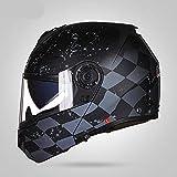 Neue Motorrad Motorrad Motorrad Offroad Helm Helm Flip Helm Protector, Staubschutz, Double Lens...