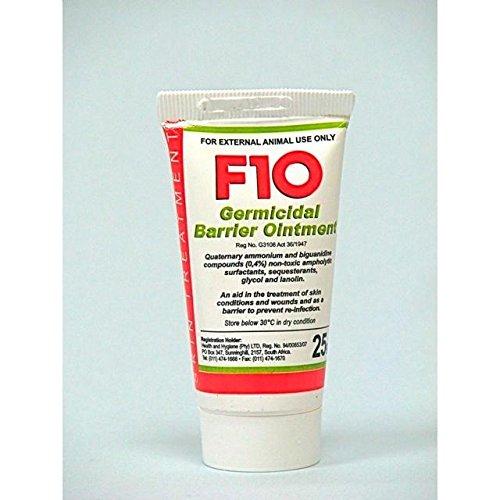 F10 - Pomada de barrera germicida para animales, tubo de 25 g