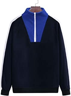 VANVENE Mens Casual Turtle Neck Sweater Sweatershirt Zip Coats