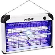 Bug Zapper, ANEAR 2 in 1 Electric Bug Zapper, Portable Mosquito Killer with 20W 2400V Power Grid Insect Killer, Electric Shock Insect Fly Trap for Mosquito, Moth, Wasp, Beetle Other Pests