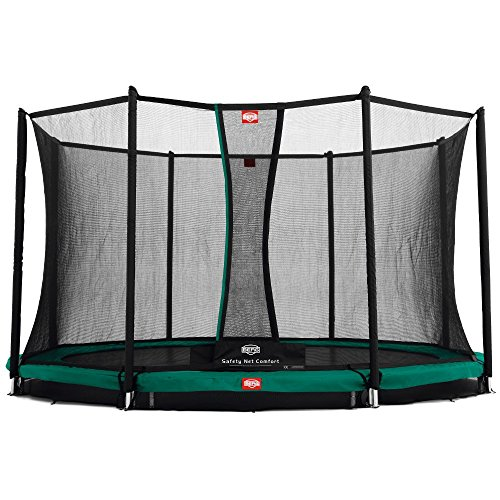 BERG 35.41.06.00 Trampolino Comfort 330 inground Champion con Rete di Sicurezza