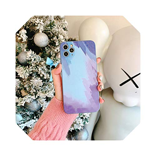 Luxury - Carcasa impermeable para iPhone 12 11 Pro Max Mini Cover Silicona para iPhone XR XS Max X 7 8 Plus se 2020 Soft TPU Cover-2-for iPhone 11