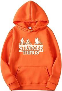 VERROL Sudadera Stranger Things Mujer Hombre, Stranger Things Bicicleta Sudadera, Unisexo Stranger Things Pullover de Forr...