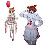Xin Hai Yuan It Pennywise disfraz de terror, disfraz de terror, payaso cosplay disfraces de Halloween, Pennywise, XL