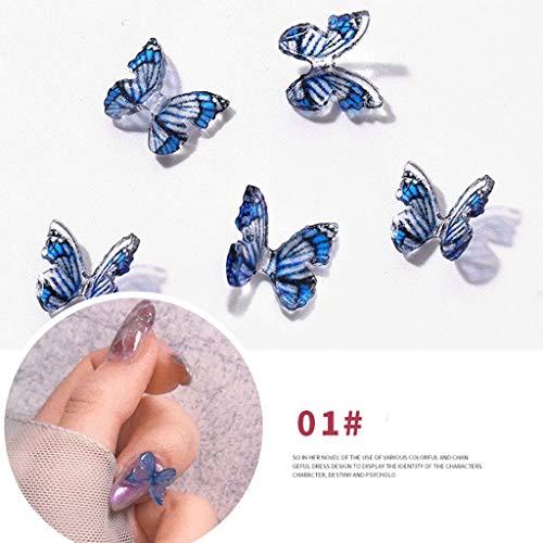Nail Autocollant Stickers Ongles Forme Fleur Papillon Couleurs Designes Autocollants Ongles Décoration Accessoire DIY pour Femmes Filles