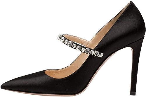 Tacon Alto mujer Rhinestone plataforma,MWOOOK-70 zapatos De Vestir De Material Sintético