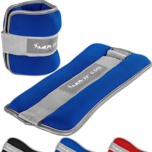 Movit® Bandes lestées pour Poignets et Chevilles 2X 2,0 kg Bleu