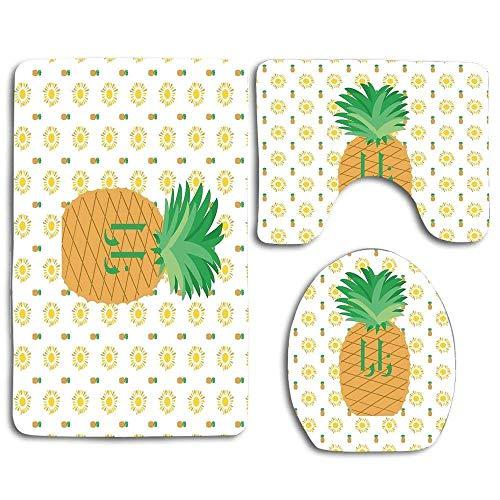 Alfombras de baño antideslizantes de 3 piezas de Zara Fruit of Sunshine...