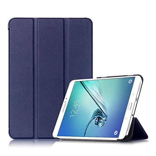Hannuo Funda para Samsung Galaxy Tab S2 8.0 T710 T715 T713 T719 SM-T710 SM-T715 SM-T713 8 Funda Protectora para Tableta Funda magnética-Azul