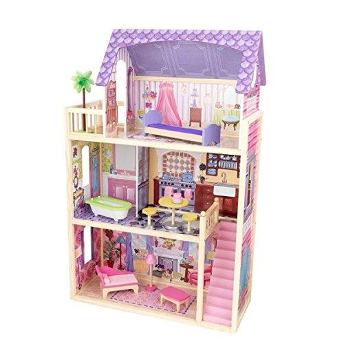 Kidkraft Casa De Muñecas Kayla De Madera Color natural/rosa/violeta One Size 65092