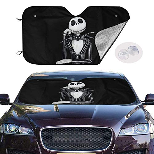 hengshiqi Windshield Sunshades Nightmare Before Christmas Front Car Shield Window Shade Keeps Your Vehicle Cool Auto Visor Cover Protector Fold-Up Truck Sun Glare