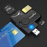 Lector de Tarjetas Inteligentes USB, Lector de Tarjetas USB Militar CAC/DOD, Lector de Tarjetas...