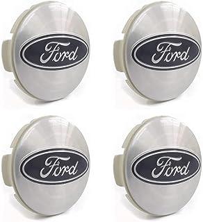 Kit 4 Calota Centro Roda Ford Fiesta Focus Prata