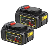 2 Pack <span class='highlight'><span class='highlight'>Waitley</span></span> DCB184 18V 5Ah Replacement Battery Compatible with Dewalt DCB184-XJ DCB182 XR li-ion Battery Tools