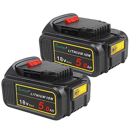 2 Pezzi Waitley DCB184 18V 5.0Ah Batería de repuesto para DCB200 DCB183 DCB185 DCD785 DCD795 DCF885 DCF895 DCS380 DCS391 de ion de litio MAX XR Bateria
