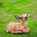 PANRODO Animals Statue Height Resin Deer Garden Art Decor Yard Ornament Lawn Garden Outdoor Patio Decoration Figurine