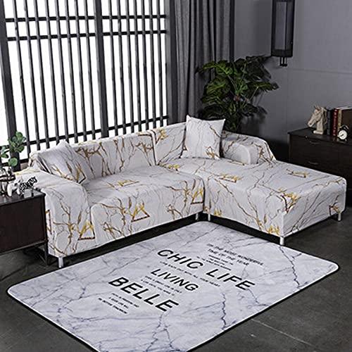 PPOS Funda de sofá Universal elástica en Forma de L para Sala de Estar Funda Impresa para Fundas de sofá Funda de sofá elástica A2 3 Asientos 190-230cm-1pc