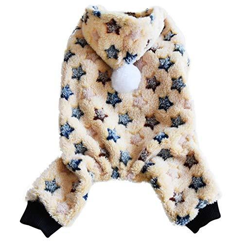 PONNMQ Niedlichen Hund Kleidung Overall warme Winter Welpen Katze Mantel Kostüm Haustier Kleidung Outfit für kleine mittlere Hunde Katzen Yorkshire Chihuahua, K, S
