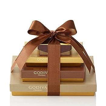 Godiva Chocolatier Assorted Chocolate Truffles Gift Box Classic Gold Ribbon 46-Pieces 7.55 Ounce