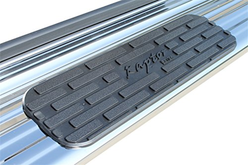 Raptor Series 1301-0151 7 inch Stainless Running Boards Side Steps for Extended/Double Cab 99-13 Silverado/Sierra 1500 99-19 2500/3500 Gas and Diesel