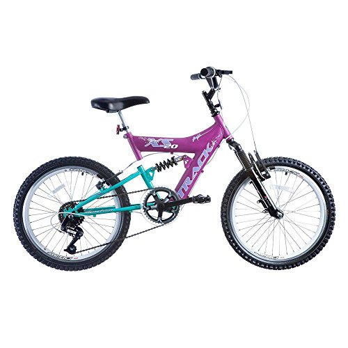Bicicleta Track Bikes XR 20 Full Infantil - Aro 20 Azul/Rosa