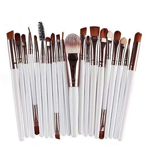 Waymeduo 20 Stück Professionelle Makeup Bürsten Kosmetik Set Foundation Powder Lidschatten...