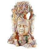 JONJUMP Resina Decoración de Acuario Estatua Cabeza Exótica Ruinas Exóticas Decoraciones Acuario Decoraciones Creativas
