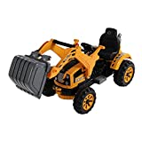 HOMCOM Kids Electric Ride On Toy Car 6V Battery Operated Excavator Tractor...