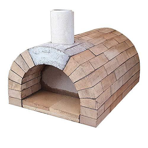 PUR Schamotte Toskana Pizzaofen Bausatz + Anleitung, Holzbackofen/Steinofen Selber Bauen Garten