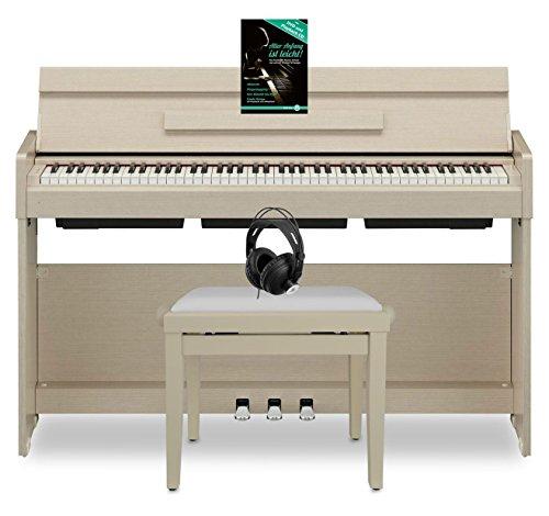 Yamaha YDP-S34 WA Arius Digitalpiano (88 Tasten auf GHS-Tastatur & mit Yamaha CFX-Tonerzeugung, Set mit passender Pianobank, Komfort-Kopfhörer & Klavierschule, ideal für Anfänger & Profis) Weißesche