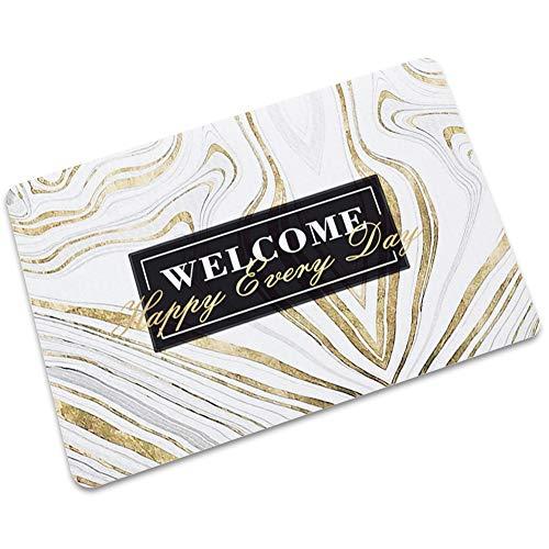 LJJJZS Bienvenido a esteras de mármol, absorbentes de agua, antideslizantes y repelentes de la suciedad, sala de estar, baño DLSW-04