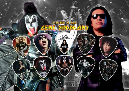 Gene Simmons Kiss Signed Autograph – Púas (Limited to 500 Prints)