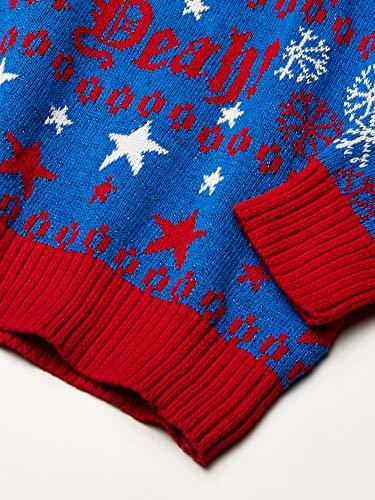 Blizzard Bay Men's Merica Santa Ugly Christmas Sweater, Red/White/Blue, Large
