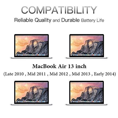 Neuer Laptop-Akku für MacBook Air 13 '' A1466 (Mitte 2012, Mitte 2013, Anfang 2014, Anfang 2015) A1369 (Ende 2010, Mitte 2011), passend für A1496 A1405