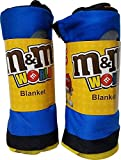 M&M's 2 Pack Big Facde Characters Blanket. New Edition 2017. 50' x 60'