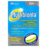 Seven Seas Multibionta 50+, Multivitamin with Minerals and Biotic Cultures, 60 tablets
