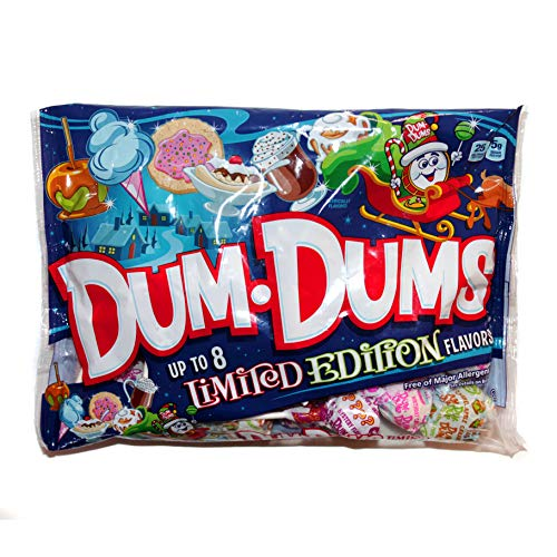 Spangler 1 Bag DumDums Pops  Up To 8 Assorted Limited Edition Flavors  Holiday Lollipops  Free of Major Allergens  Net Wt 48 oz