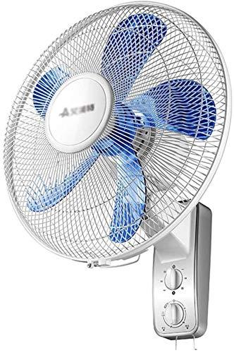 Haojie Ventilador de Pared Cabeza de agitación para el hogar Ventilador eléctrico de Pared para Paredes Que Ahorra energía Ventilador de Pared Ventilador de Pared Ventilador