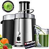 Mueller Austria Juicer Ultra Power, Easy Clean Extractor Press Centrifugal Juicing Machine, Wide 3' Feed Chute for Whole Fruit Vegetable, Anti-drip, High Quality, Large, Silver (Renewed)