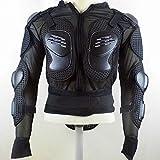 SJAPEX Profesional Chaqueta de Protección Del Cuerpo de La Motocicleta Motocross Racing Body Armor Spine Protectora Pecho Gear Chaqueta Hombres Columna Vertebral Espina Pecho(S~3XL) Black,S