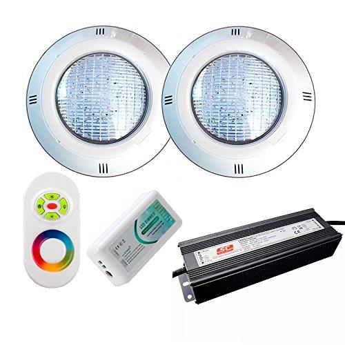 Warmpool Oferta 2 Focos LED RGB con Cable de 4 Hilos para...