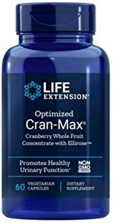 Life Extension Optimized Cran-Max Cranberry Whole Fruit Concentrate with Ellirose, 250MG,  60 Veg Capsules (Pack of 3)