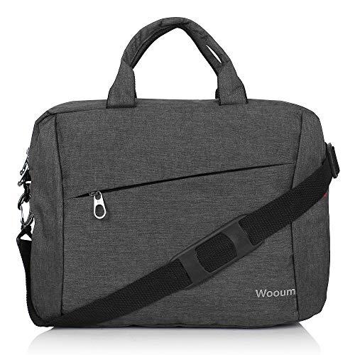 Wooum 15.6 inch Casual Laptop Briefcase, Notebook Briefcase Shoulder Office Laptop Bag Messenger Bag Business Carrying Handbag (Blue-Grey)