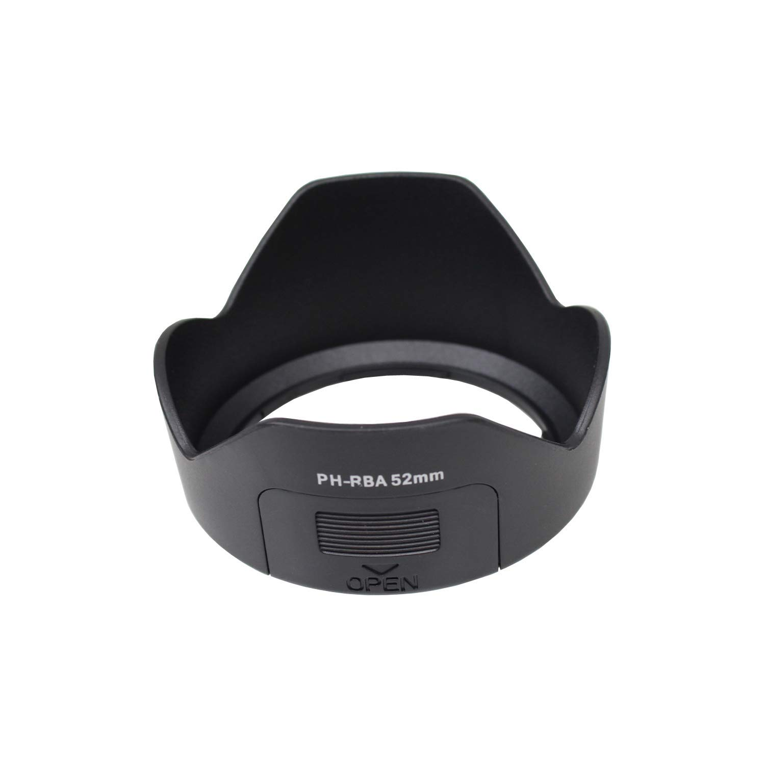 CamDesign 52mm Lens Hood Compatible with Pentax PH-RBA K10D//K20D//K100D//K110D//KX KM K30 K5II K7 DA 18-55mm F3.5-5.6KR Camera Lens
