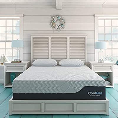 Classic Brands Cool Gel Chill Memory Foam 14-Inch Mattress with BONUS Pillow |CertiPUR-US Certified |Bed-in-a-Box, Twin XL