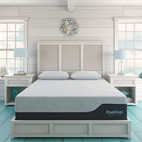 Classic Brands Cool Gel Chill Memory Foam 14-Inch Mattress with 2...