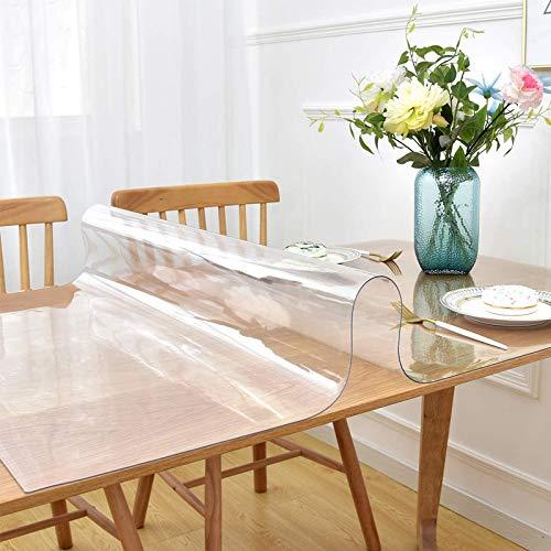テーブルクロス 透明 PVC製 テーブルマット デスクマット マット テーブルカバー 防塵・防水・耐久・耐熱 食品接触の安全性 厚さ2mm ビニールマット 矩形 撥水加工 汚れ防止 サイズ選択可能